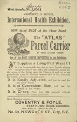 Advert for the Atlas Parcel Carrier
